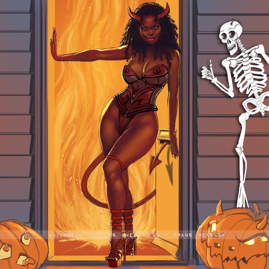 "Франс Менсинк (Frans Mensink), ""Halloween Hotness Ahead"""