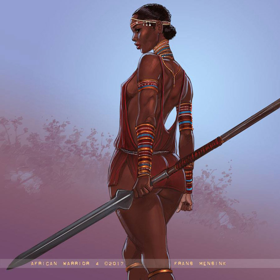 "Франс Менсинк (Frans Mensink), ""African Warrior (3)"""