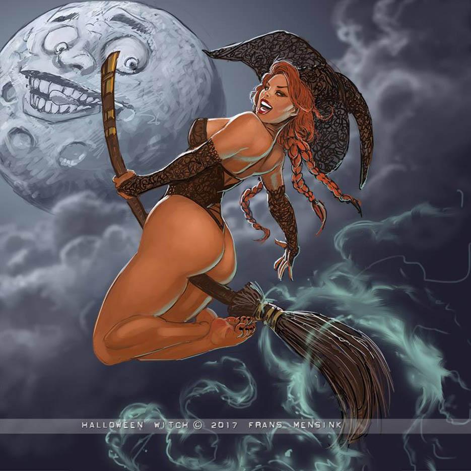 "Франс Менсинк (Frans Mensink), ""Halloween Witch (2)"""