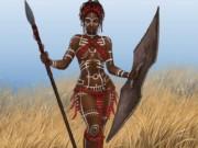 "Франс Менсинк (Frans Mensink), ""African Warrior (5)"""