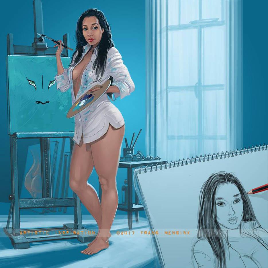 "Франс Менсинк (Frans Mensink), ""Artistic Inspiration"""