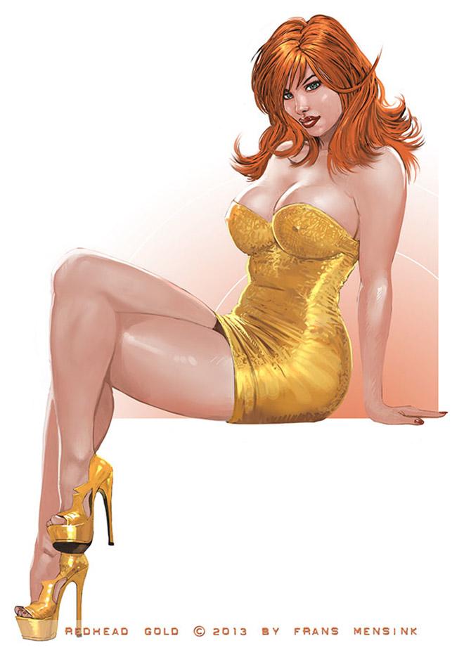 "Франс Менсинк (Frans Mensink), ""Redhead Gold"""