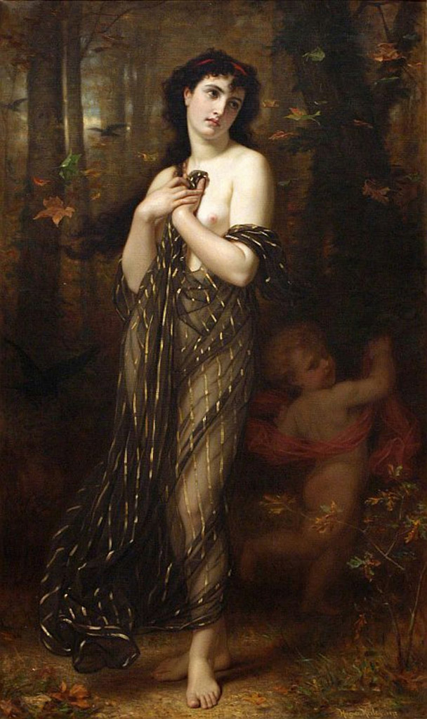 "Гуго Мерле (Hugues Merle) ""Falling Leaves, Allegory of Autumn"""