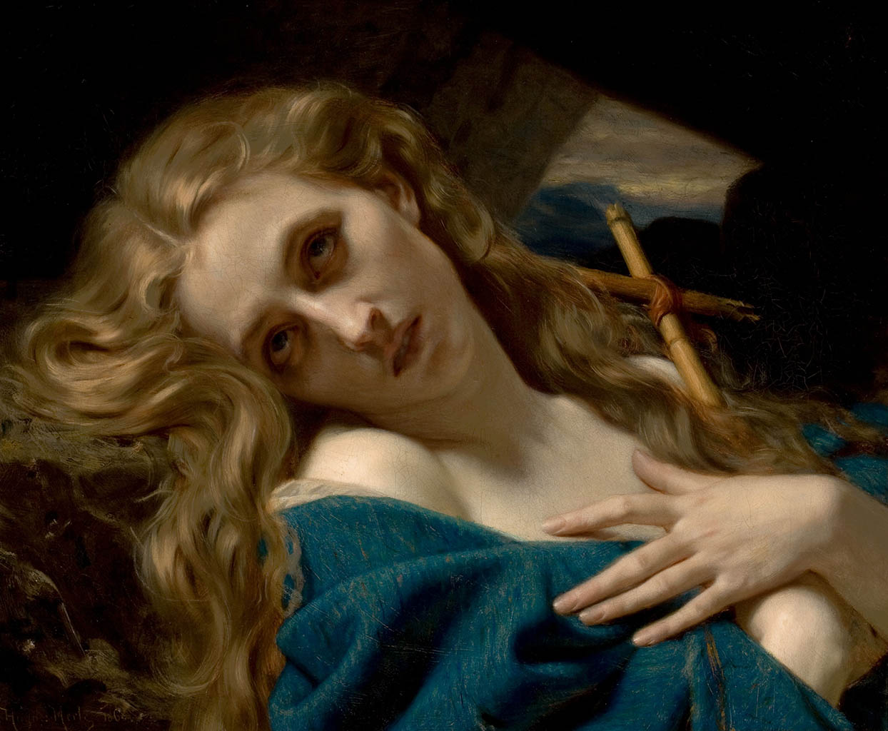 "Гуго Мерле (Hugues Merle) ""Mary Magdalene in the Cave"""