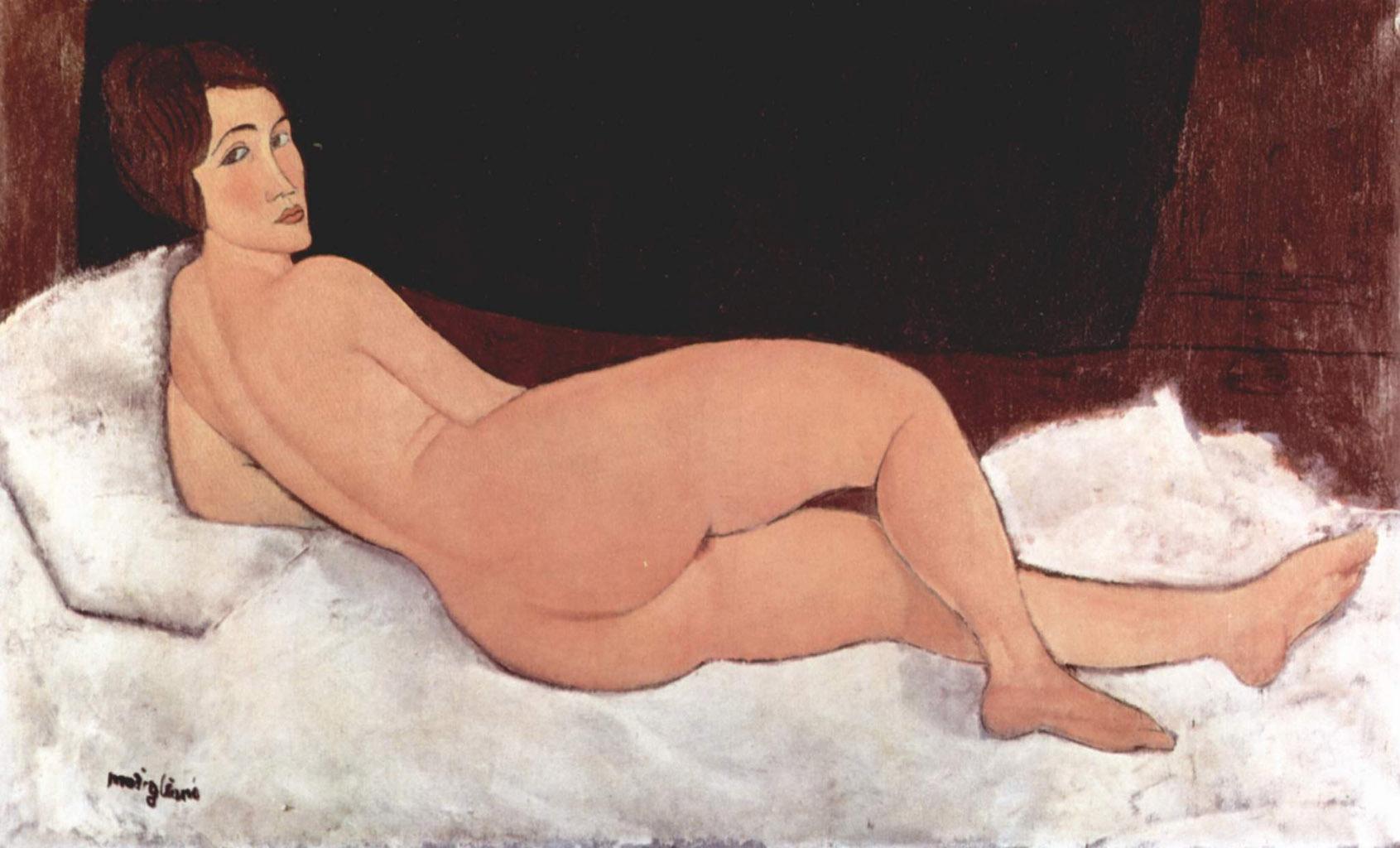 "Амедео Модильяни (Amedeo Modigliani), ""Nu allonge"""