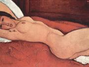 "Амедео Модильяни (Amedeo Modigliani), ""Nu couche les bras croises derriere la tete"""