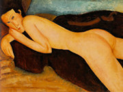 "Амедео Модильяни (Amedeo Modigliani), ""Reclining Nude from the Back"""