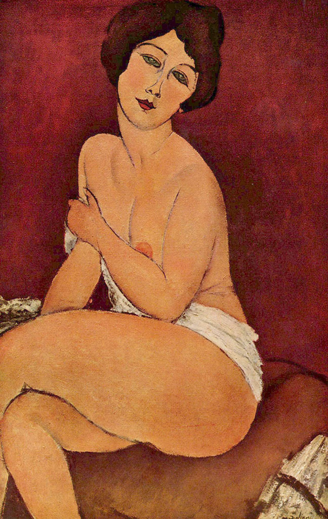 "Амедео Модильяни (Amedeo Modigliani), ""Nu feminin"""
