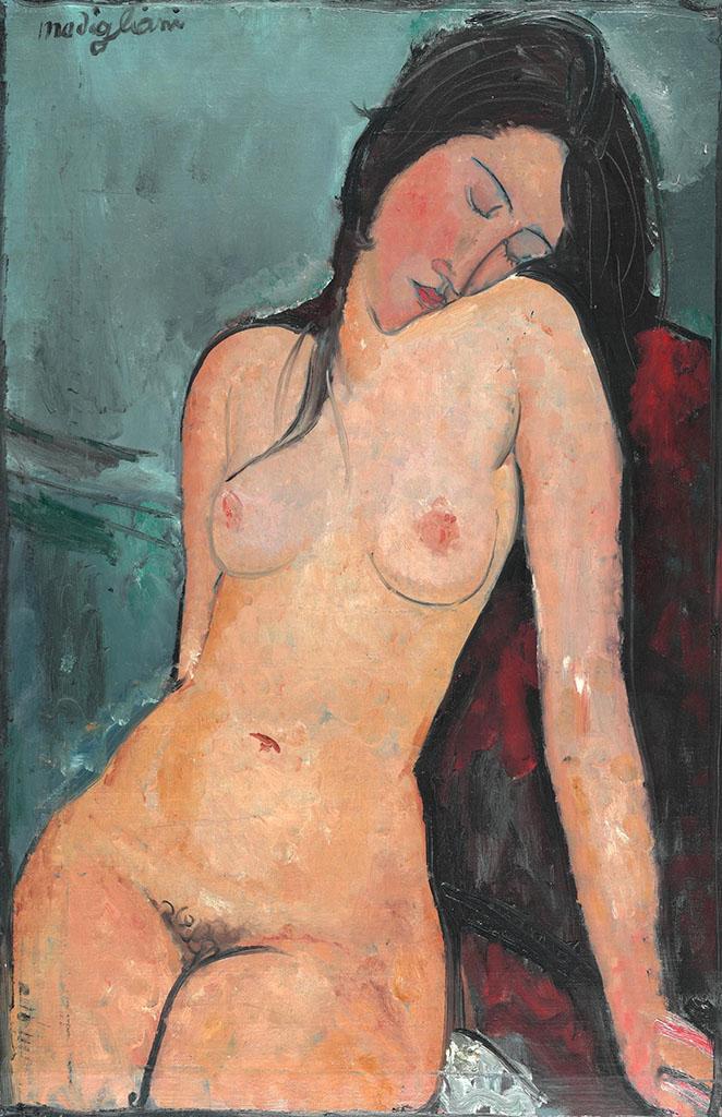 """Амедео Модильяни (Amedeo Modigliani), """"Seated Nude (2)"""""""