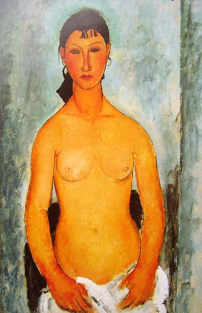 """Амедео Модильяни (Amedeo Modigliani), """"Stehender Akt (Elvira)"""""""