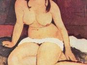"Амедео Модильяни (Amedeo Modigliani), ""Sitzender Akt"""