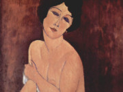 "Амедео Модильяни (Amedeo Modigliani), ""Nu assis sur un sofa"""