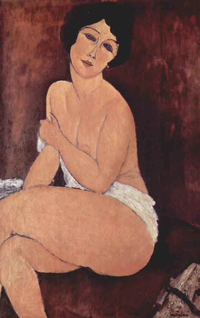 "Амедео Модильяни (Amedeo Modigliani), ""Nu assis sur un sofa"""