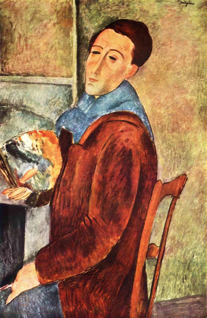 "Амедео Модильяни (Amedeo Modigliani), ""Автопортрет"""