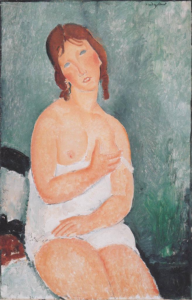"Амедео Модильяни (Amedeo Modigliani), ""Junge Frau im Hemd"""