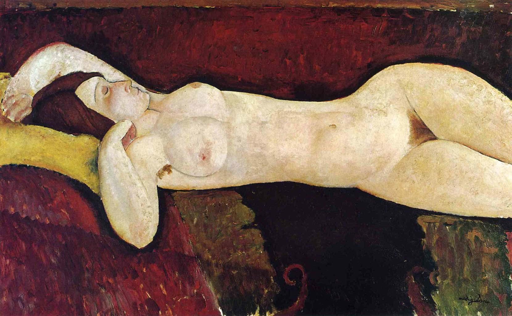 """Амедео Модильяни (Amedeo Modigliani), """"Лежащая обнаженная (Большая ню)"""""""