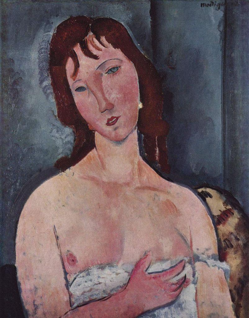 "Амедео Модильяни (Amedeo Modigliani), ""Junge Frau"""