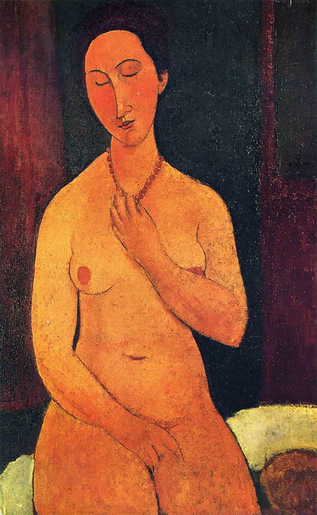 """Амедео Модильяни (Amedeo Modigliani), """"Обнаженная с ожерельем"""""""