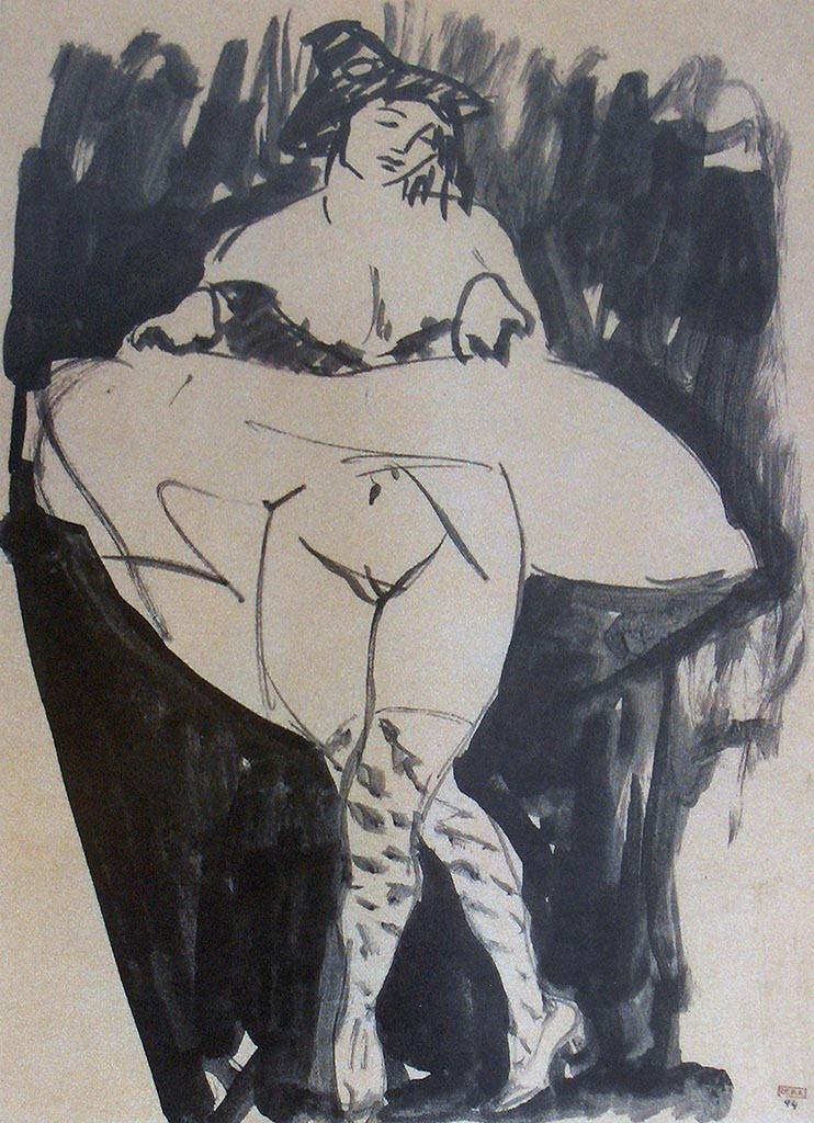 "Амедео Модильяни (Amedeo Modigliani), ""Dancer (drawing)"""