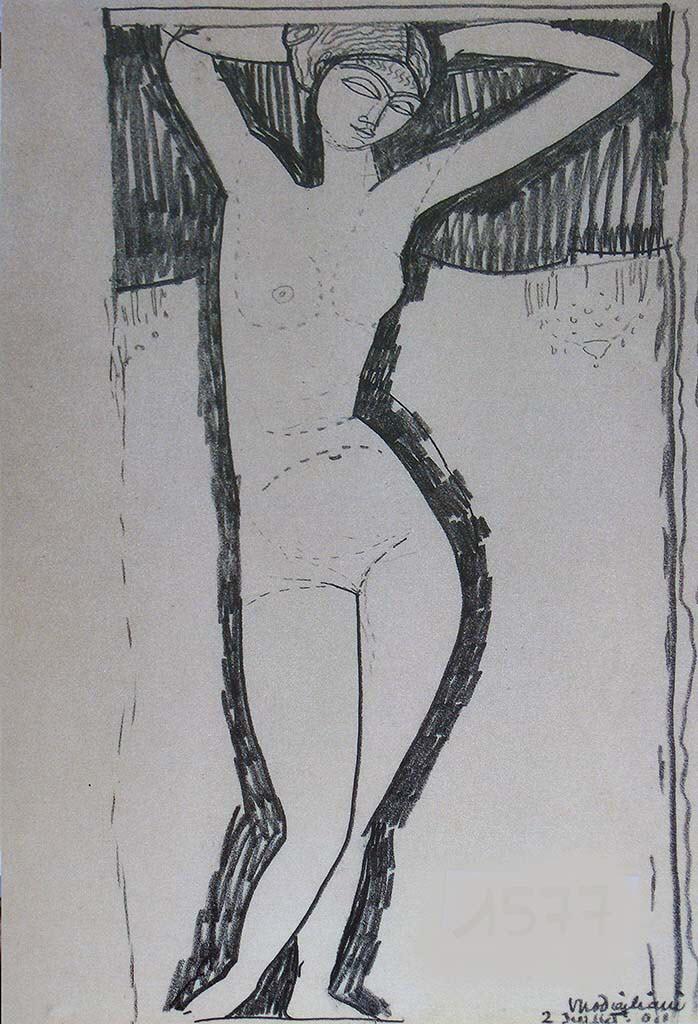 """Амедео Модильяни (Amedeo Modigliani), """"Nude (drawing)"""""""