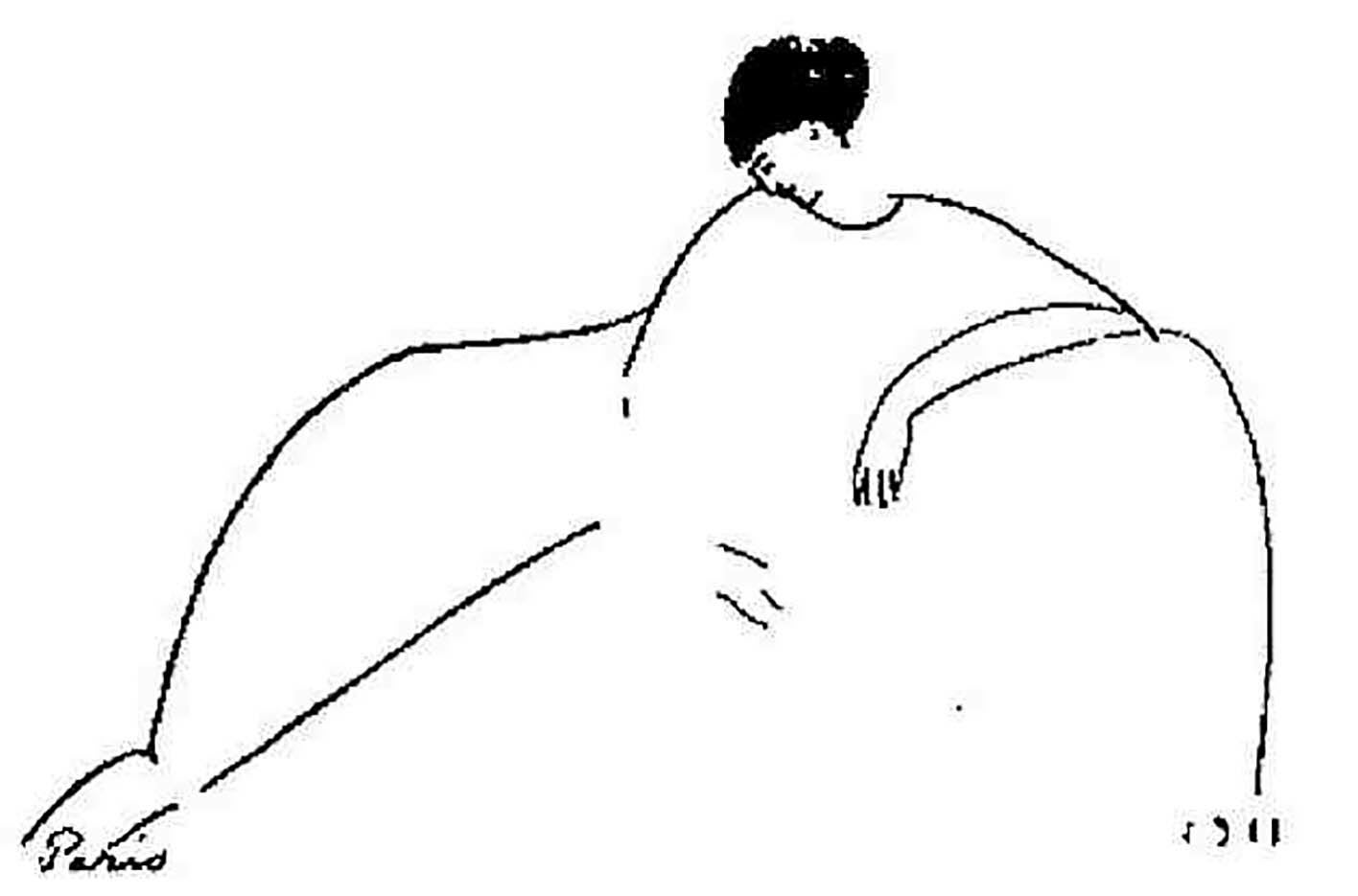 "Амедео Модильяни (Amedeo Modigliani), ""Anna Akhmatova by Amedeo Modigliani"""