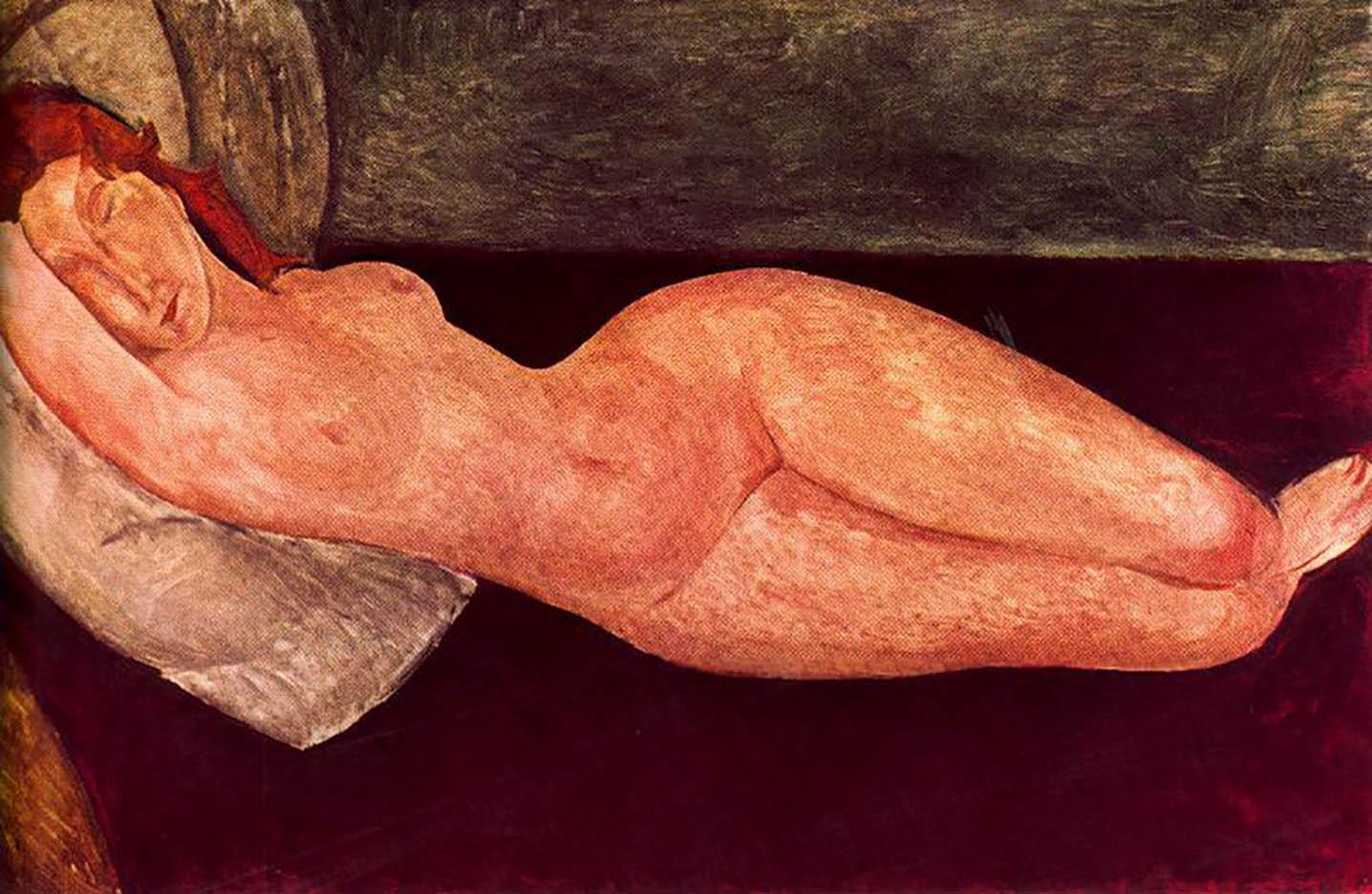 """Амедео Модильяни (Amedeo Modigliani), """"Картина без названия - 42"""""""