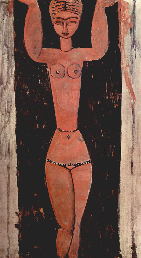 "Амедео Модильяни (Amedeo Modigliani), ""Stehende Karyatide"""