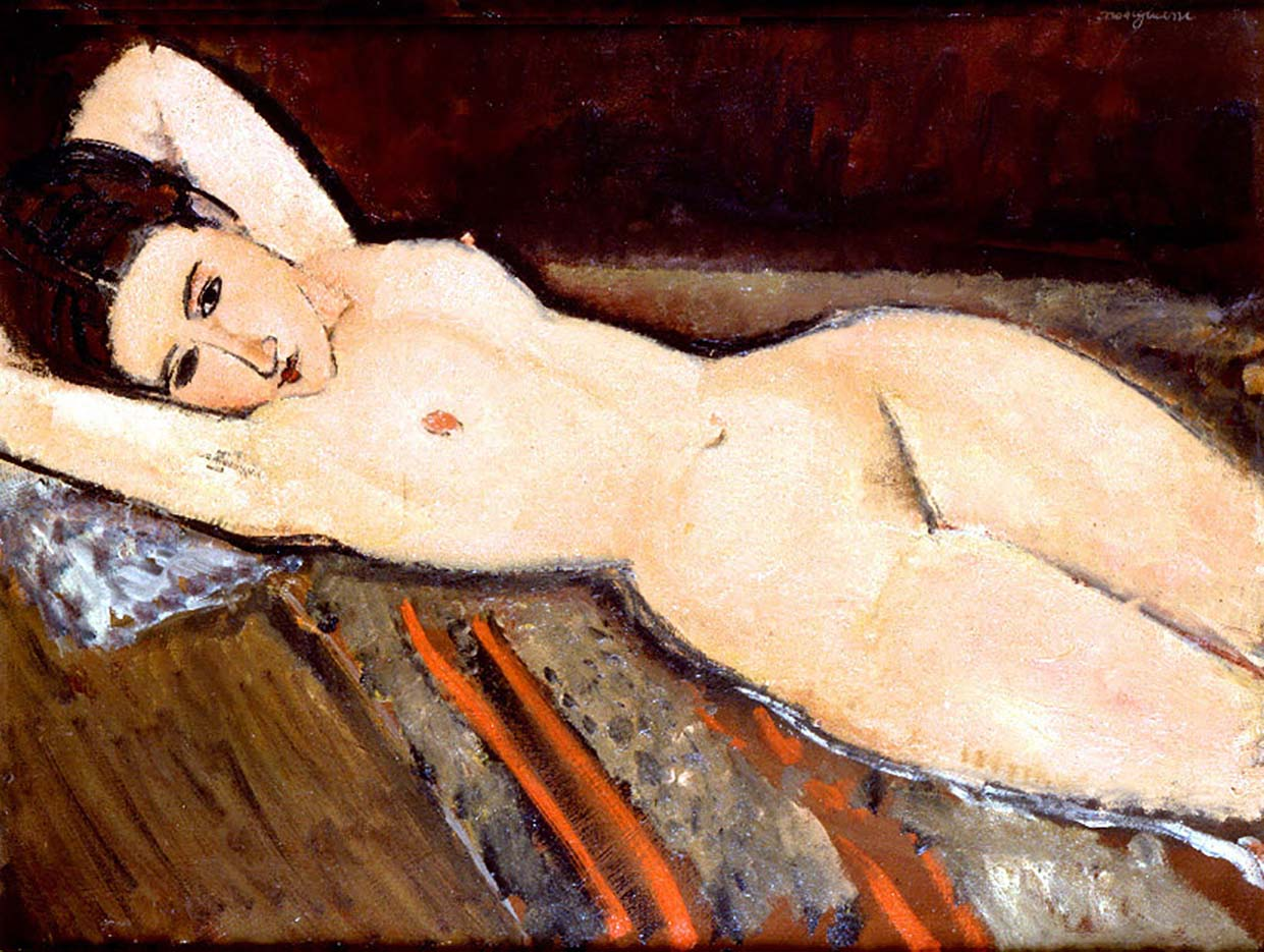 "Амедео Модильяни (Amedeo Modigliani), ""A Reclining Nude"""
