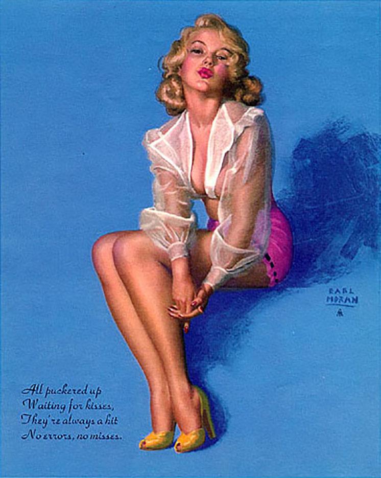 "Эрл Моран (Earl Moran), ""All Puckered Up Waiting For Kisses"""