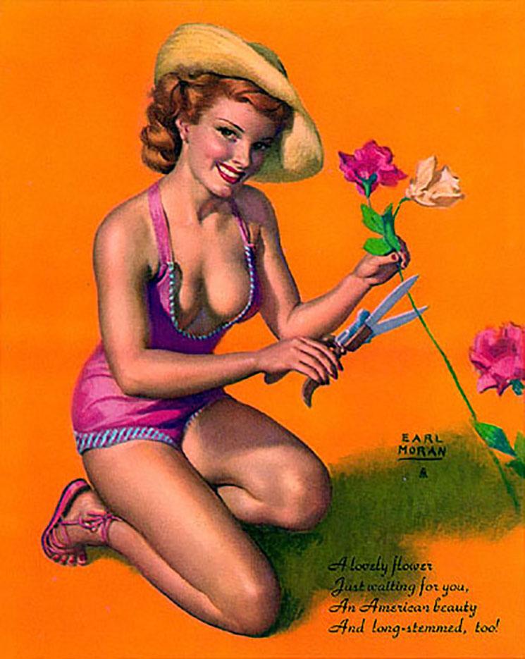 "Эрл Моран (Earl Moran), ""A Lovely Flower Just Waiting For You"""