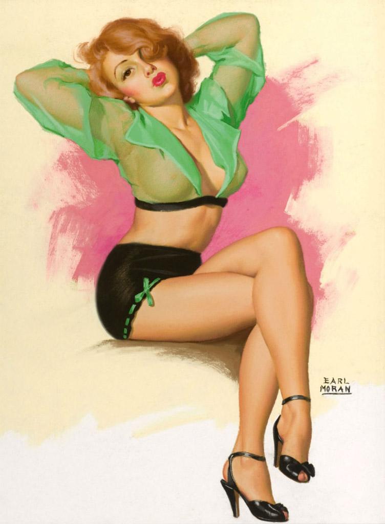 "Эрл Моран (Earl Moran), ""No Girl Ever Got Far Keeping A Stiff"""