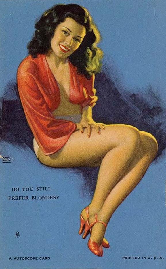 """Эрл Моран (Earl Moran), """"Do You Still Prefer Blondes?"""""""