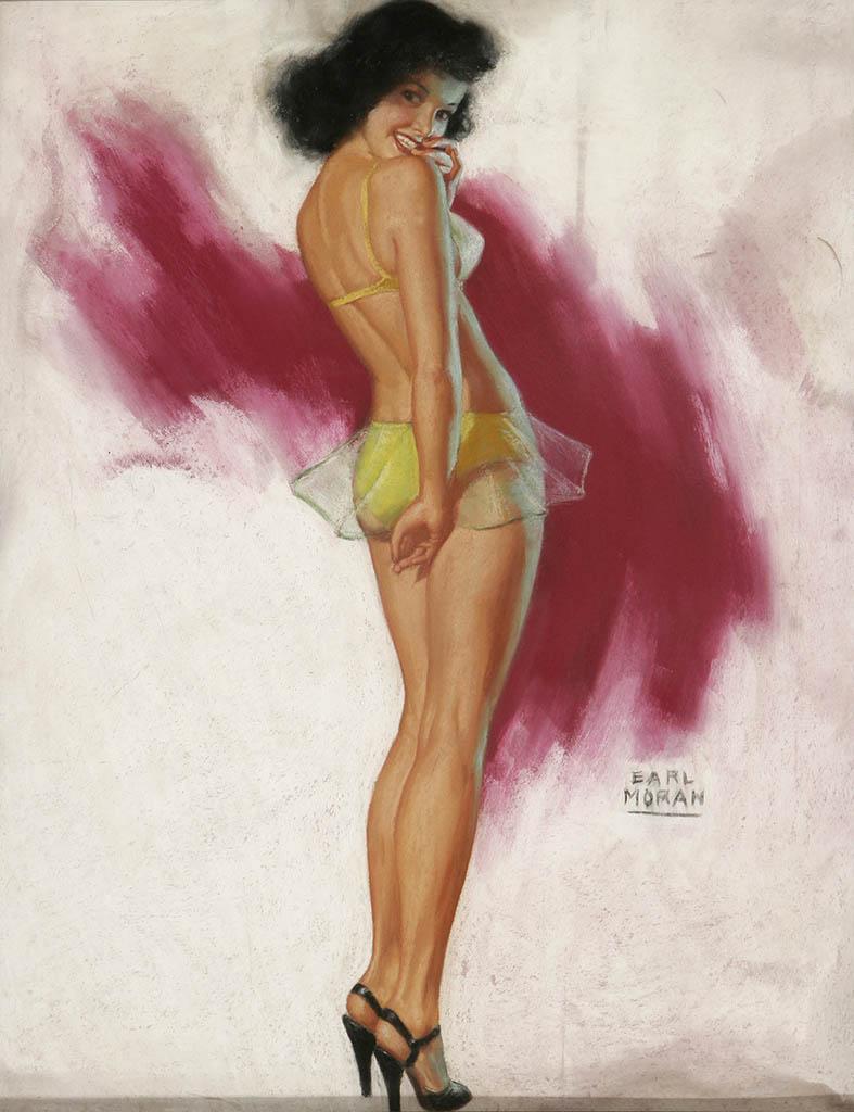 """Эрл Моран (Earl Moran), """"Girl in Yellow Bikini"""""""