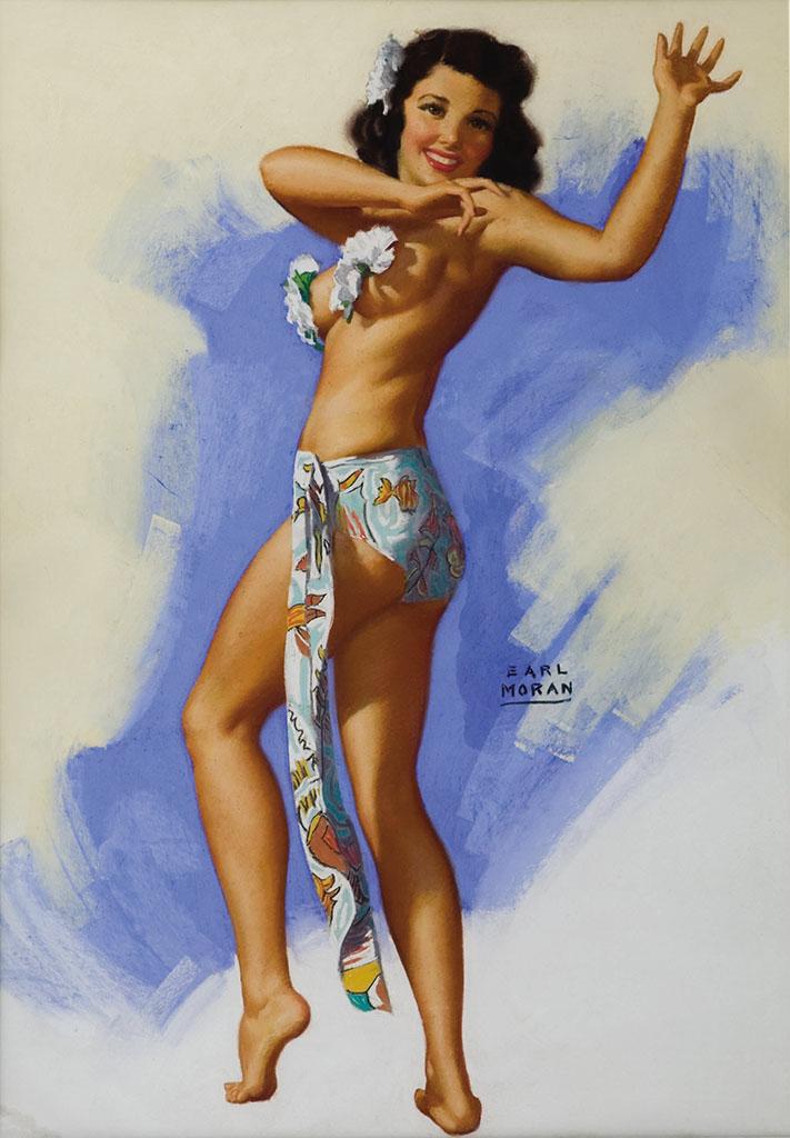 """Эрл Моран (Earl Moran), """"Hawaiian Dancer"""""""