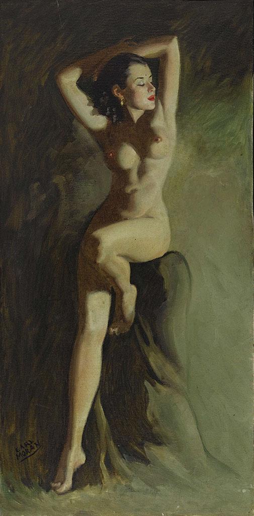 """Эрл Моран (Earl Moran), """"Seated Nude"""""""