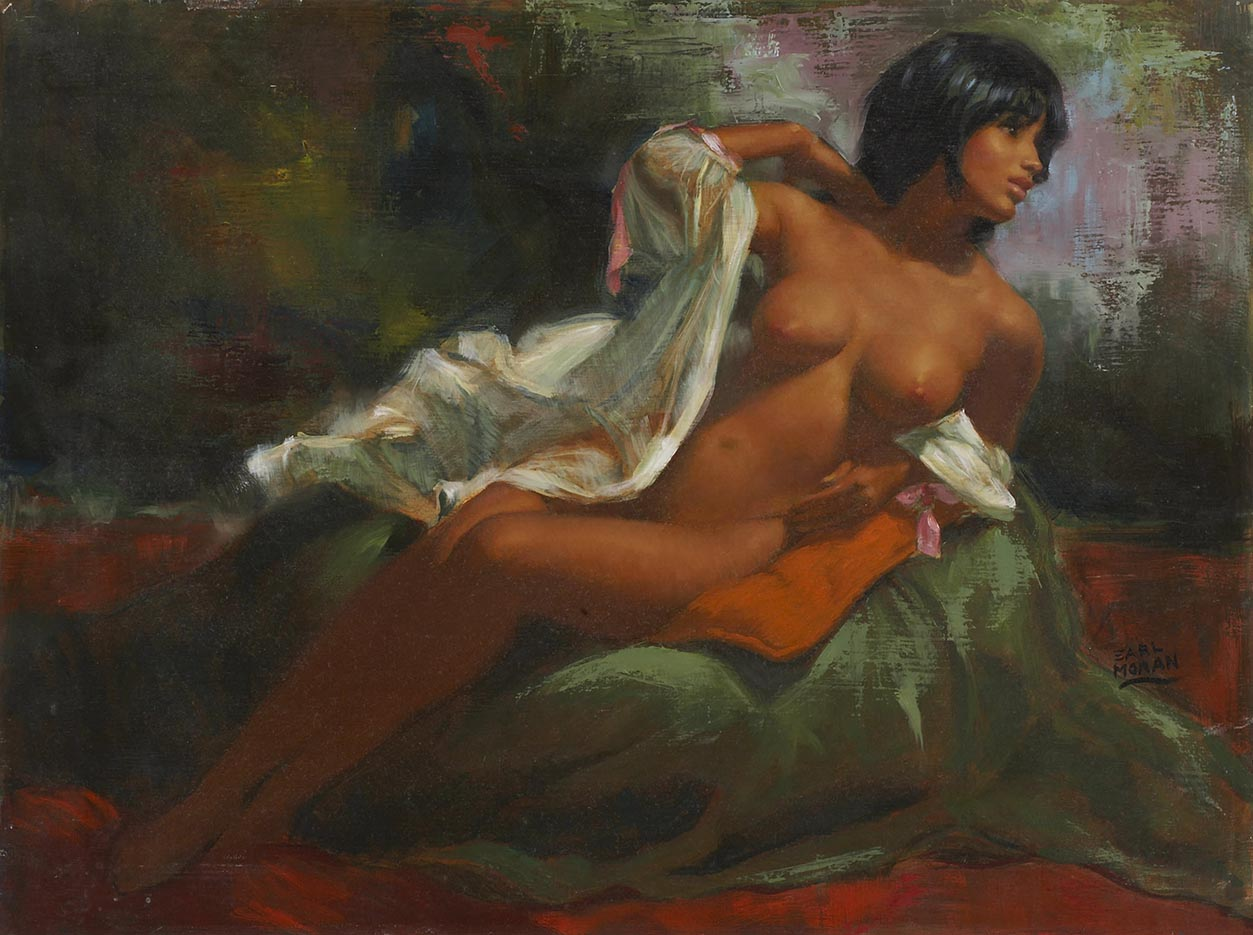 Canvas People Oil Painting, Nude Woman Oil Painting Reproduction On Linen