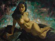 """Эрл Моран (Earl Moran), """"Reclining Nude (4)"""""""