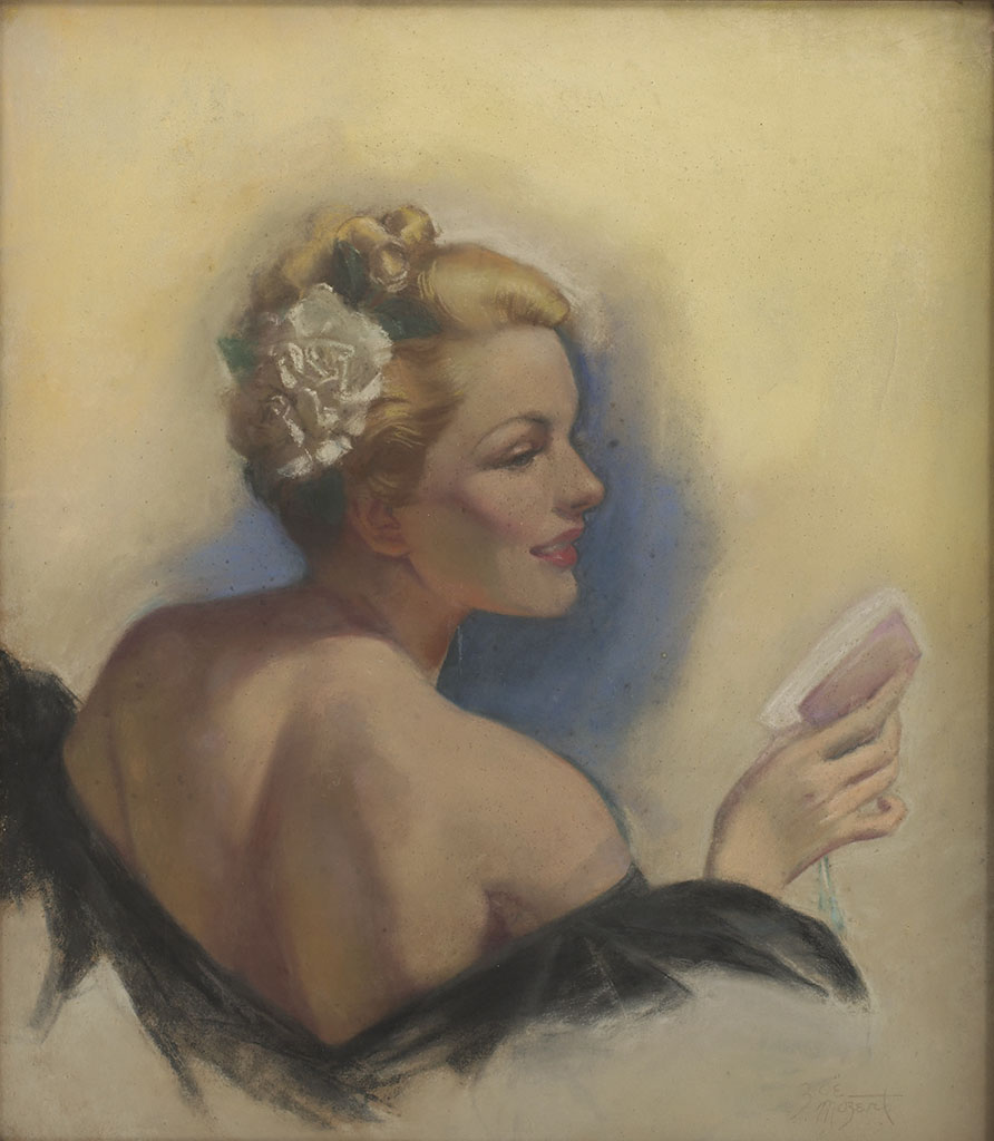 """Зои Мозерт (Zoe Mozert), """"A Blonde with a Flower in Her Hair"""""""
