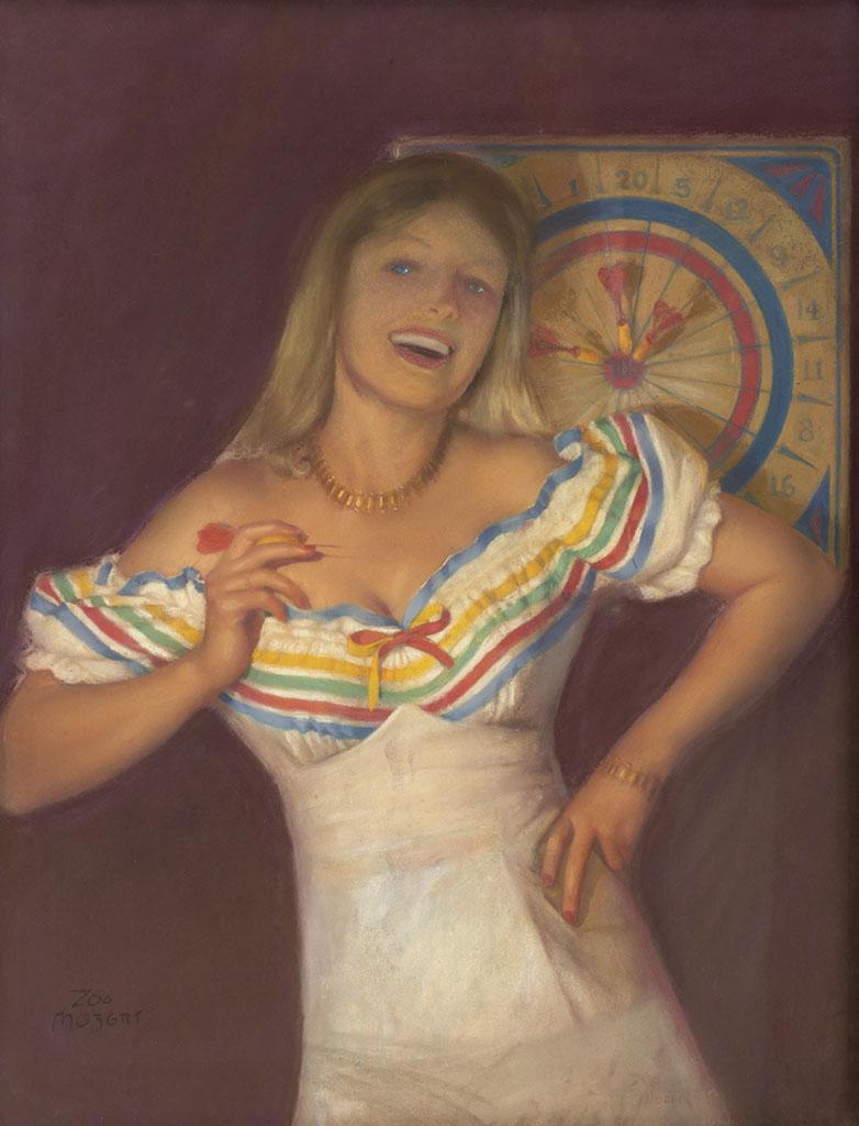 "Зои Мозерт (Zoe Mozert), ""Blonde Dart Player"""