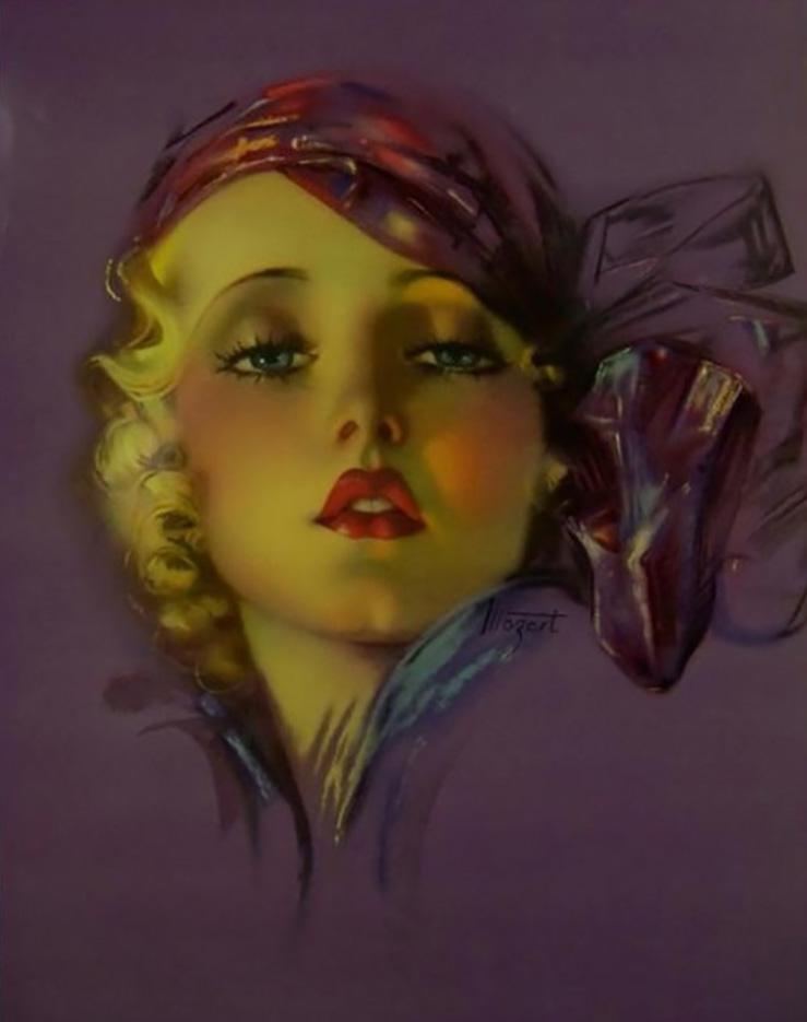 "Зои Мозерт (Zoe Mozert), ""Self Portrait"""
