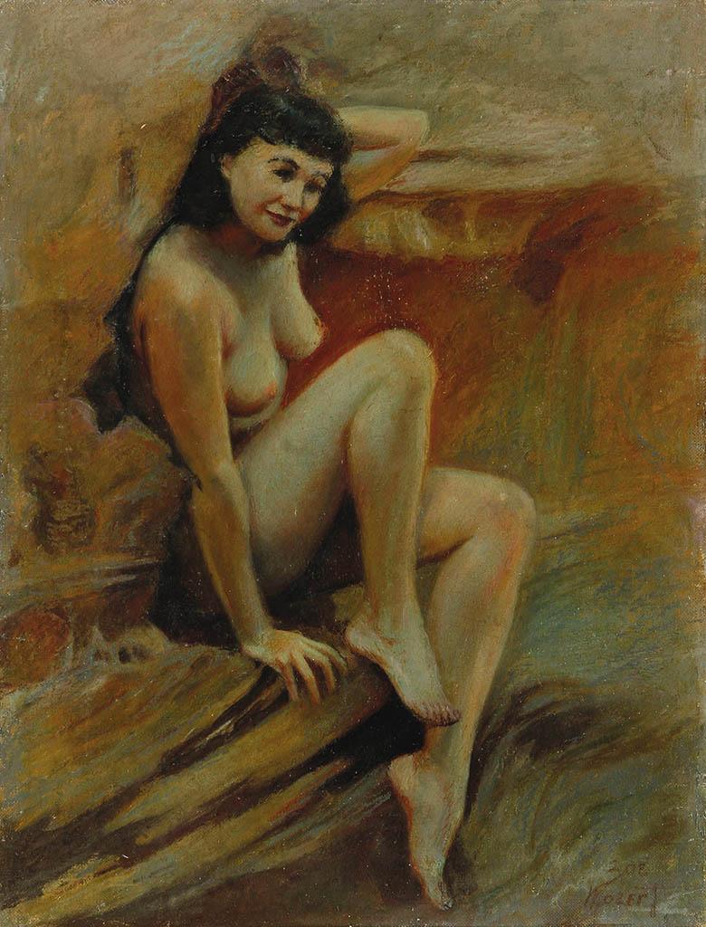 "Зои Мозерт (Zoe Mozert), ""Nude Self-Portrait"""