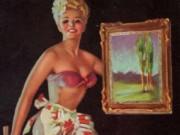 "Зои Мозерт (Zoe Mozert), ""Lady Hangs picture"""