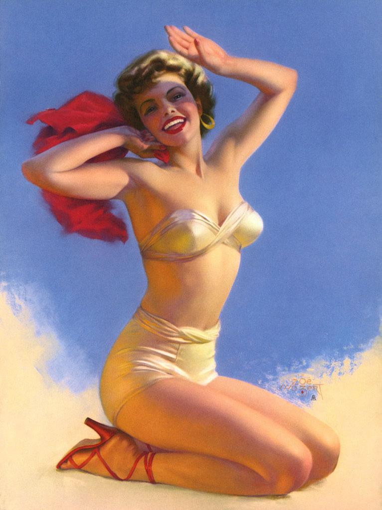 """Зои Мозерт (Zoe Mozert), """"Contemporary Mermaid"""""""