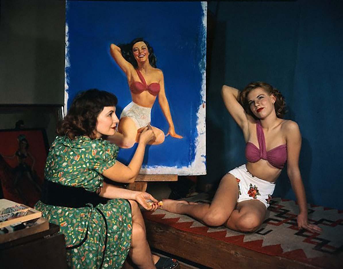 """Зои Мозерт (Zoe Mozert), """"Фотография в студии"""""""