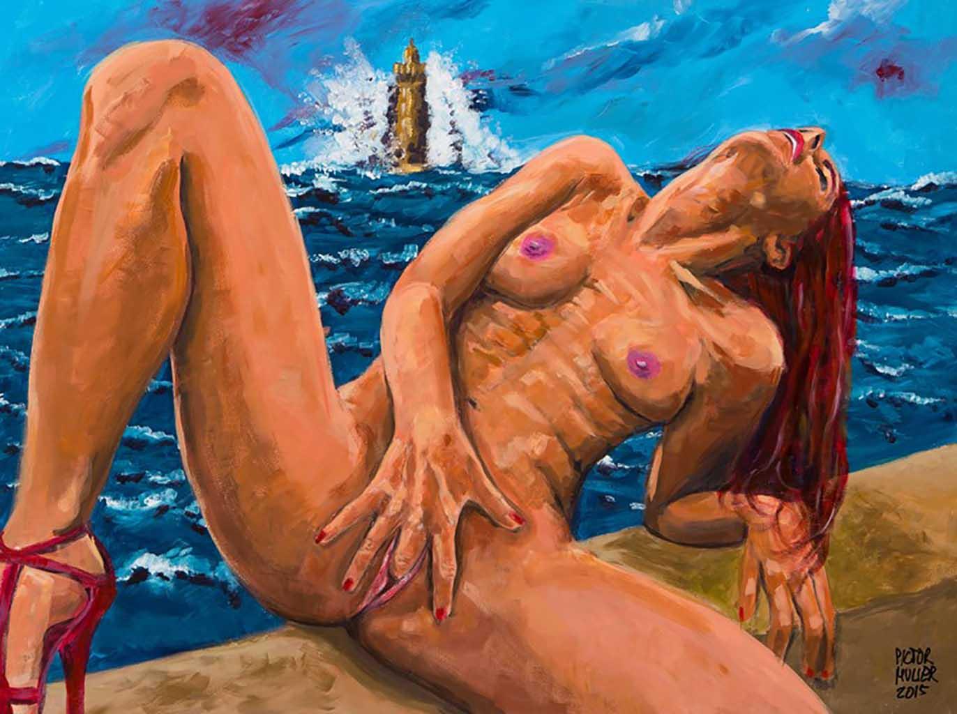 "Пиктор Мюльер (Pictor Mulier) ""Vienna vibrating with the waves of her orgasm"""