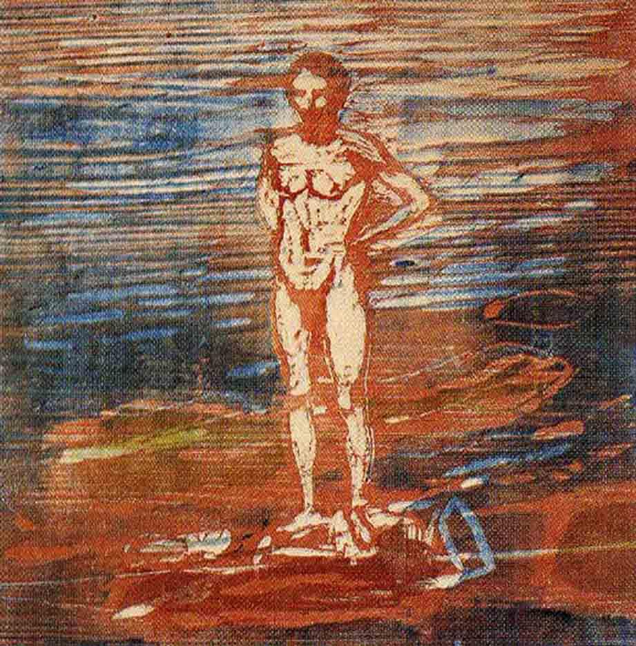 "Эдвард Мунк (Edvard Munch) ""Купальщик | Man Bathing"""