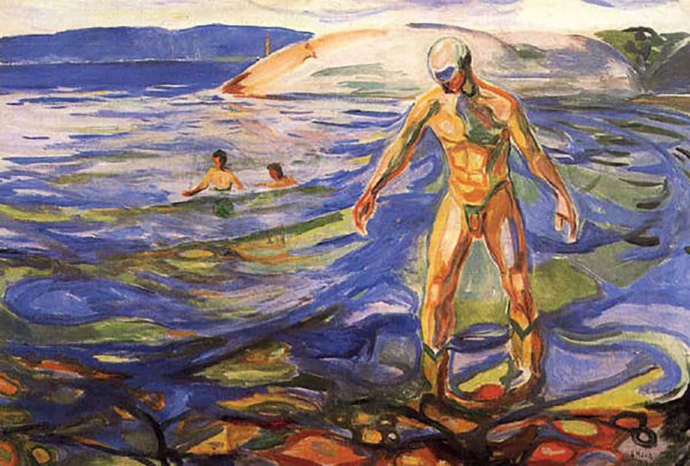 "Эдвард Мунк (Edvard Munch) ""Купающийся мужчина | Bathing Man"""