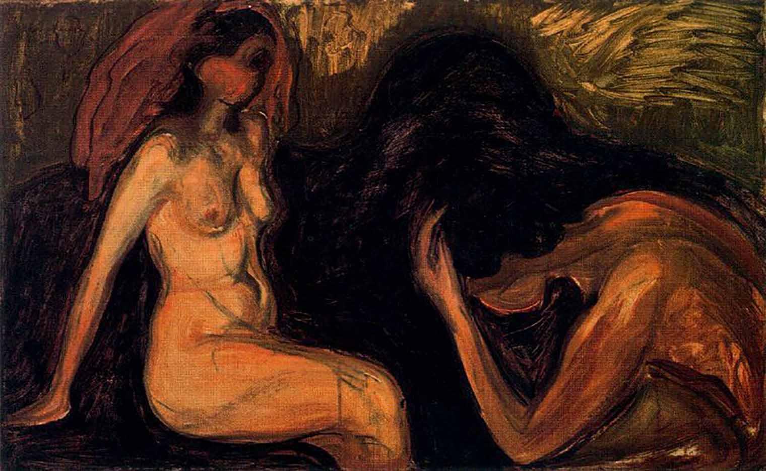 "Эдвард Мунк (Edvard Munch) ""Man and Woman"""