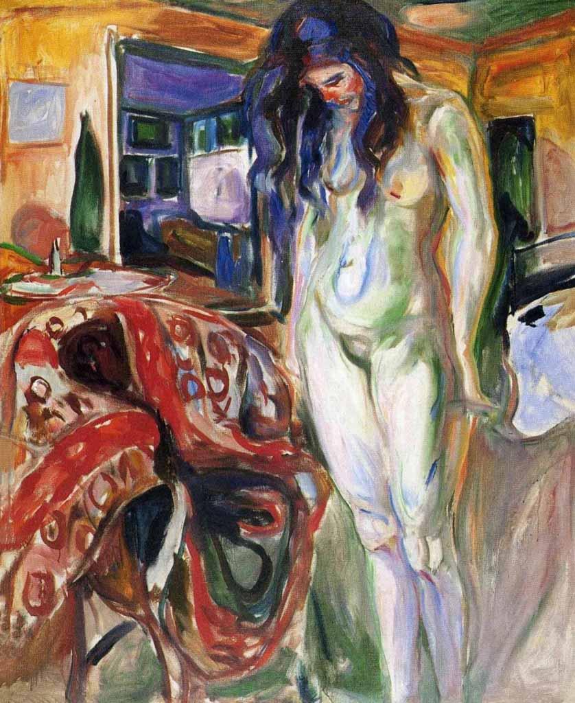 "Эдвард Мунк (Edvard Munch) ""Обнаженная рядом с плетеным креслом | Nude next to a wicker chair"""
