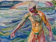 "Эдвард Мунк (Edvard Munch) ""Купальщик - 2 | Bather"""